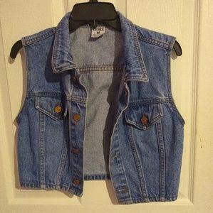 Vintage cropped denim vest